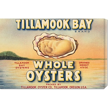 Global Gallery 'Tillamook Bay Whole Oysters' by Retrolabel Vintage Advertisement on Wrapped Canvas