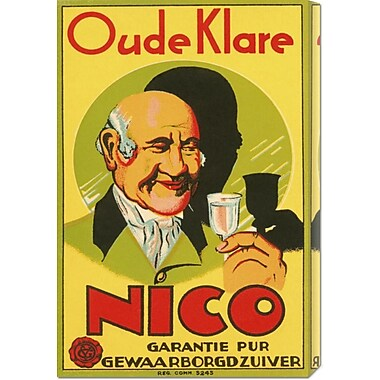 Global Gallery 'Oude Klare Nico' by Retrolabel Vintage Advertisement on Wrapped Canvas