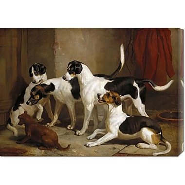 Global Gallery 'The Puckeridge Foxhounds' by Thomas Woodward Painting Print on Wrapped Canvas