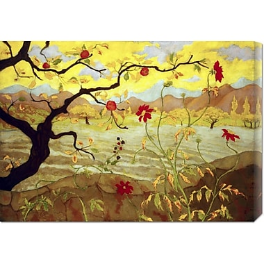 Global Gallery 'Apple Tree w/ Red Fruit' by Paul Ranson Painting Print on Wrapped Canvas