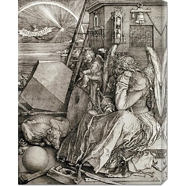 Global Gallery 'Melancholia' by Albrecht Durer Painting Print on Wrapped Canvas