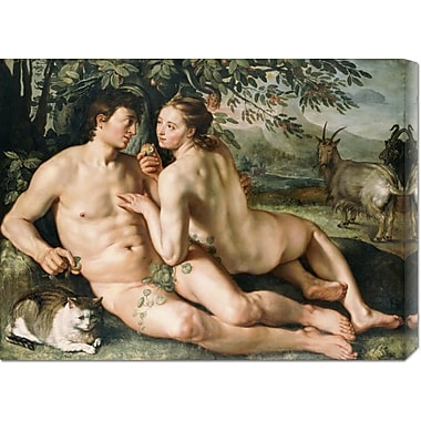 Global Gallery 'The Fall of Man' by Hendrick Goltzius Painting Print on Wrapped Canvas