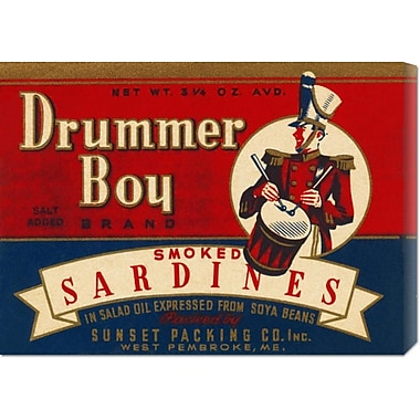 Global Gallery 'Drummer Boy Smoked Sardines' by Retrolabel Vintage Advertisement on Wrapped Canvas