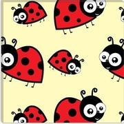 iCanvas Kids Art Lady Bug Canvas Wall Art; 18'' H x 18'' W x 1.5'' D