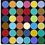iCanvasArt Modern Art Dots Nine Colors Graphic Art