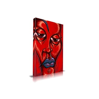 Maxwell Dickson Lips Painting Print on Wrapped Canvas; 30'' H x 20'' W