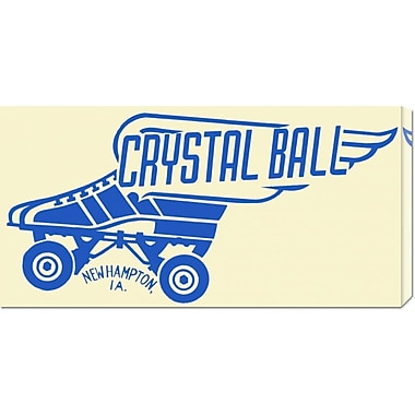 Global Gallery 'Crystal Ball' by RetroRollers Vintage Advertisement on Wrapped Canvas