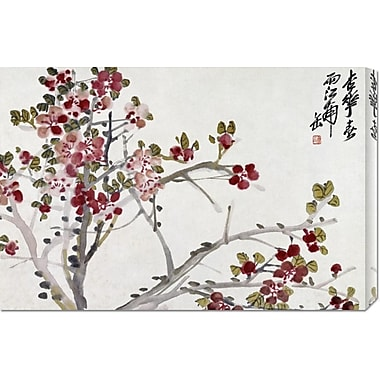 Global Gallery 'Flowers' by Wu Changshuo Painting Print on Wrapped Canvas