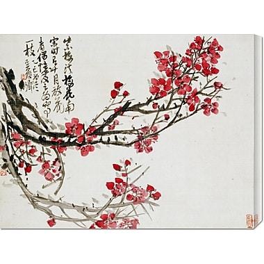 Global Gallery 'Plum Blossoms' by Wu Changshuo Painting Print on Wrapped Canvas