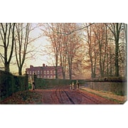 Global Gallery 'Going to Church' by John Atkinson Grimshaw Painting Print on Canvas