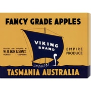 'Viking Brand Fancy Grade Apples' by Retrolabel Vintage Advertisement on Wrapped Canvas