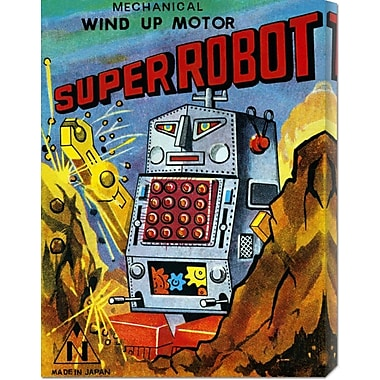 Global Gallery 'Super Robot' by Retrobot Vintage Advertisement on Wrapped Canvas