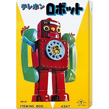Global Gallery 'Telephone Robot' by Retrobot Vintage Advertisement on Wrapped Canvas