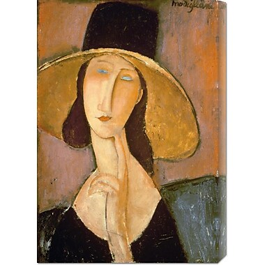 Global Gallery 'Head of a Woman' by Amedeo Modigliani Painting Print on Wrapped Canvas