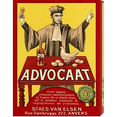 Global Gallery 'Advocat' by Retrolabel Vintage Advertisement on Wrapped Canvas