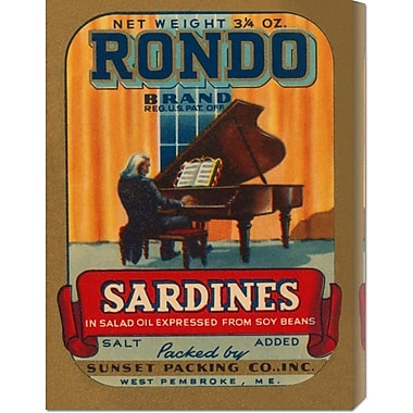 Global Gallery 'Rondo Brand Sardines' by Retrolabel Vintage Advertisement on Wrapped Canvas