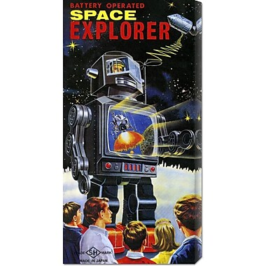 Global Gallery 'Battery Operated Space Explorer' by Retrobot Vintage Advertisement on Wrapped Canvas