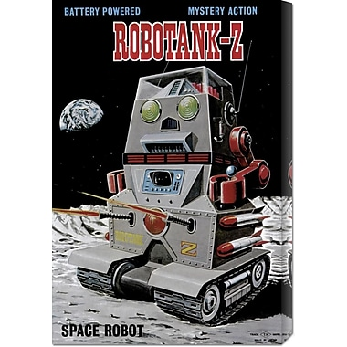 Global Gallery 'Robotank-Z Space Robot' by Retrobot Vintage Advertisement on Wrapped Canvas