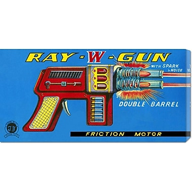 Global Gallery 'Ray W Gun' by Retrogun Vintage Advertisement on Wrapped Canvas
