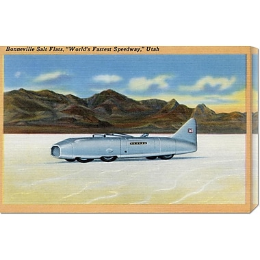 Global Gallery 'World's Fastest Speedway' by Retro Travel Painting Print on Wrapped Canvas