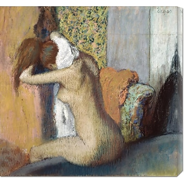 Global Gallery 'After the Bath' by Edgar Degas Painting Print on Wrapped Canvas