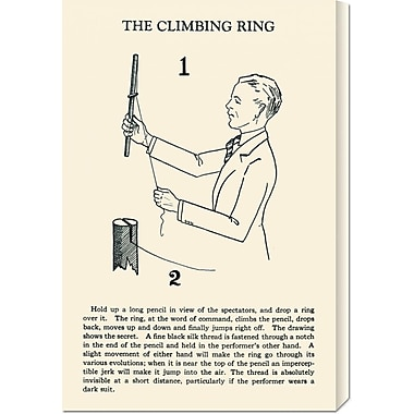Global Gallery 'The Climbing Ring' by Retromagic Vintage Advertisement on Wrapped Canvas