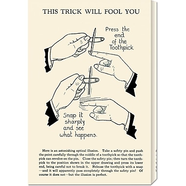 Global Gallery 'This Trick Will Fool You' by Retromagic Vintage Advertisement on Wrapped Canvas