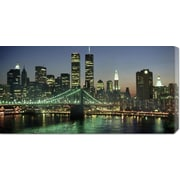 'Manhattan Skyline and Brooklyn Bridge' by Kevin Fleming Photographic Print on Wrapped Canvas