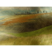 Carlyle Fine Art Landscape Rolling Hills by Jordan Carlyle Graphic Art; 36'' x 48''