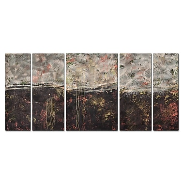 All My Walls 'Lithosphere 51' by Hilary Winfield 5 Piece Graphic Art Plaque Set