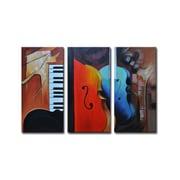 Segma Radiance Oneida 3 Piece Original Painting on Canvas Set
