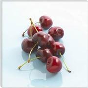 iCanvas Red Cherries Photographic; 18'' H x 18'' W x 1.5'' D