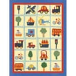Art 4 Kids Around Town Patchwork Canvas Art; Contemporary Mount with Beveled Edge