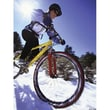 Art 4 Kids Snow Biking Canvas Art; Contemporary Mount with Beveled Edge