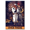 Buyenlarge Over there - U.S. Navy Vintage Advertisement on Canvas; 20'' x 30''