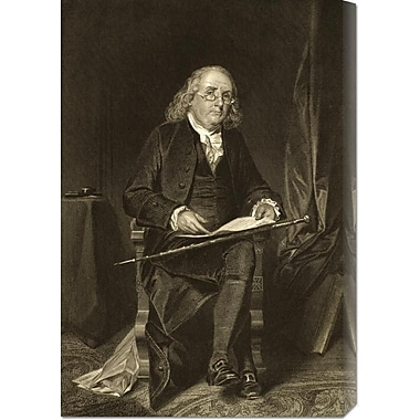 Global Gallery 'Benjamin Franklin (1706-1790)' Painting Print on Wrapped Canvas