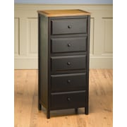 AA Importing 5 Drawer Cabinet; Distressed Black