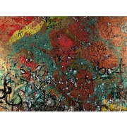 Carlyle Fine Art Abstract Alaphabet Soup by Jordan Carlyle Graphic Art; 36'' x 48''