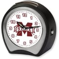 Cottage Garden Collegiate Alarm Table Clock; Mississippi State University