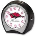 Cottage Garden Collegiate Alarm Table Clock; University of Arkansas