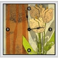 Green Leaf Art Tulips 11'' Art Wall Clock
