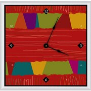 Green Leaf Art Textile 16'' Art Wall Clock
