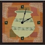 Green Leaf Art I 16'' Art Wall Clock