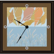 Green Leaf Art Shells 16'' Art Wall Clock