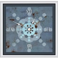 Green Leaf Art Snowflake Expression 20'' Art Wall Clock