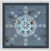 Green Leaf Art Snowflake Expression 11'' Art Wall Clock