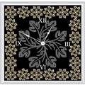 Green Leaf Art Floral with Leaves 16'' Art Wall Clock