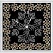 Green Leaf Art Floral with Leaves 20'' Art Wall Clock