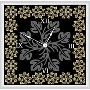 Green Leaf Art Floral with Leaves 11'' Art Wall Clock