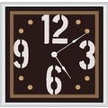 Green Leaf Art Art 11'' Wall Clock